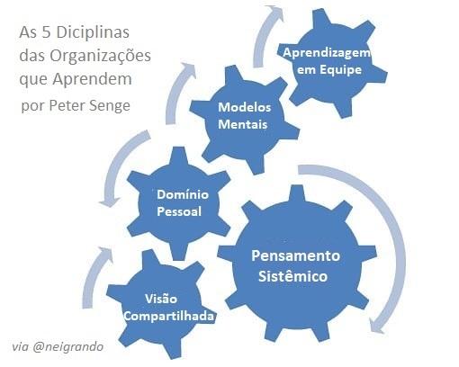 As cinco disciplinas de aprendizagem organizacional